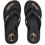 Flip Flop Kahuku Black Palm Lady