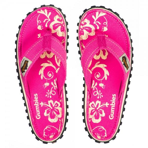 Damen Flip Flop Pink Hibiskus