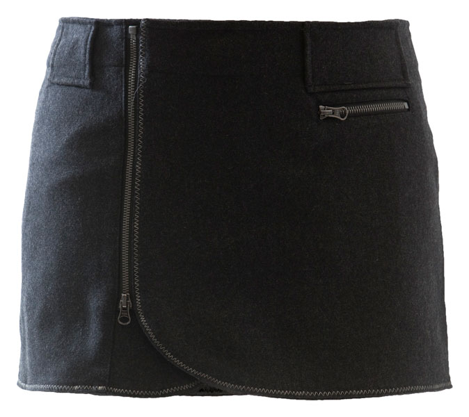 SKHOOP Wool Mini Skirt